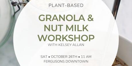 Granola & Nut Milk Workshop tickets