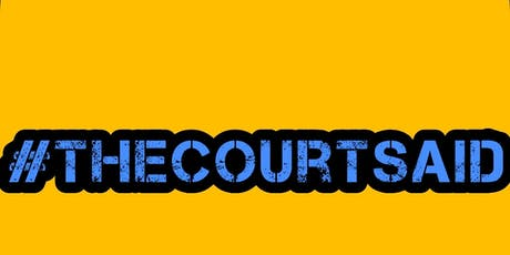 #thecourtsaid BEDFORD - LONDON tickets