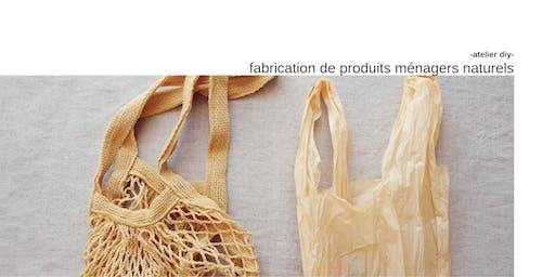 Fabrication de produits ménagers naturels