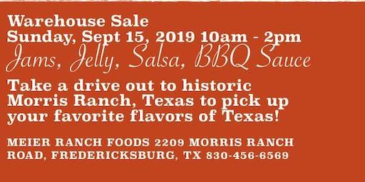 Warehouse Sale - Meier Ranch Foods/Texas Wild Gourmet Fredericksburg, Texas