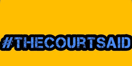 #thecourtsaid Hull To London tickets
