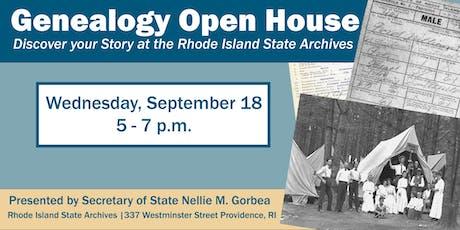 Genealogy Open House tickets