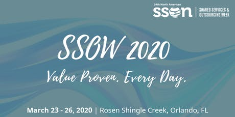 Shared Services and Outsourcing Week 2020 tickets