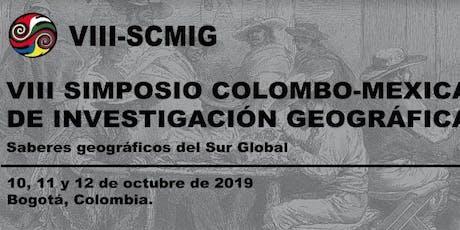 VIII Simposio Colombo Mexicano de Investigación Geográfica entradas