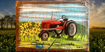 Tractor Slate or Canvas Paint Night