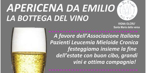 SAVE THE DATE: 19/09/2019 Apericena da Emilio a favore dell'Associazione It
