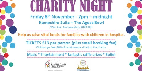 Ronald McDonald House Charity Night tickets