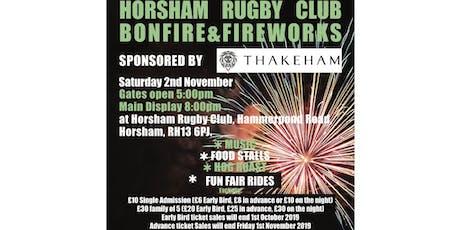 Horsham Rugby Club Fireworks & Bonfire Night - Saturday 2nd November tickets