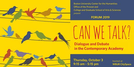 Can We Talk? Dialogue and Debate in the Contemporary Academy tickets
