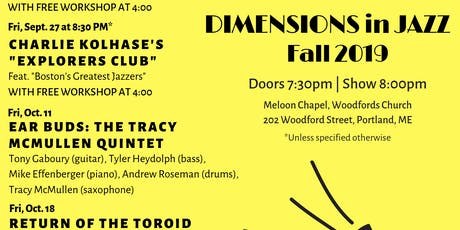 Ear Buds: The Tracey McMullen Quintet | Dimensions in Jazz Concert tickets