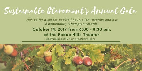 Sustainable Claremont Annual Gala 2019 tickets