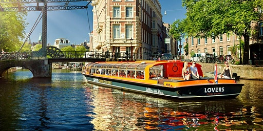 Amsterdam Canal Cruise & Walking Tour - incl. Airport transit