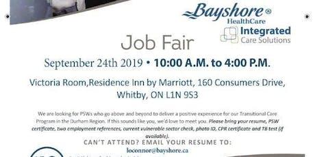 Durham Region - PSW Job Fair for Bayshore Healthcare tickets