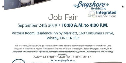 Durham Region - PSW Job Fair for Bayshore Healthcare