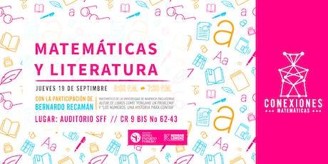 """Conexiones Matemáticas: """"Matemáticas y la Literatura"""" entradas"""