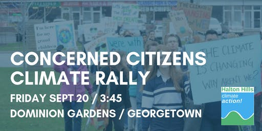 Halton Hills Climate Action  Rally - Georgetown