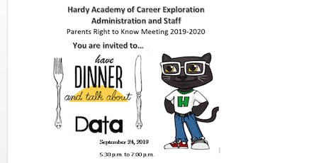 Data Over Dinner - Annual Title 1 Meeting for Hardy Academy of Career Exploration tickets