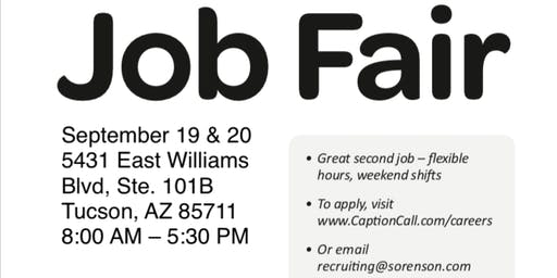 Tucson On-Site Job Fair!