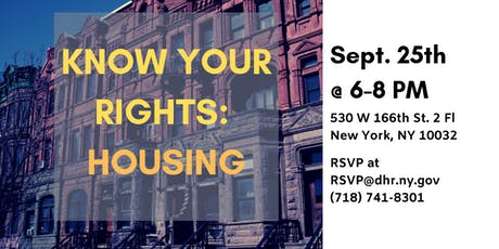 Know Your Rights: Housing  tickets