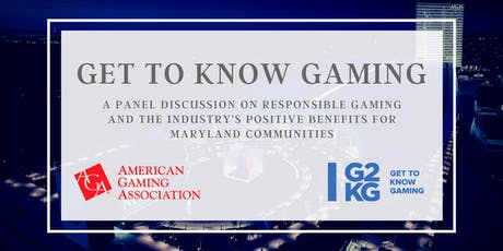 Get To Know Gaming Maryland and Responsible Gaming Education Week tickets