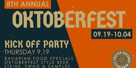 Cactus Bar & Grill's 7th Annual Charity Oktoberfest Event tickets