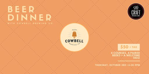 #CraftLV120 Beer Dinner w/ Cowbell Brewing