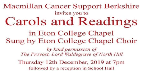Carols and Readings at Eton College Chapel in aid of Macmillan Cancer Support tickets