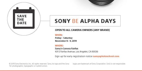 Early Registration for The Sony B Alpha Days at Samy's Camera - LA tickets