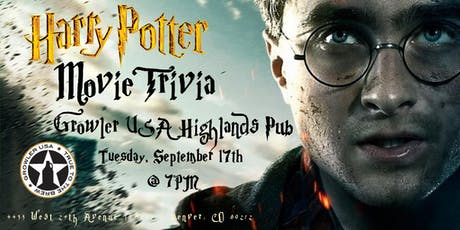 Harry Potter Movies at Growler USA Highlands Pub tickets