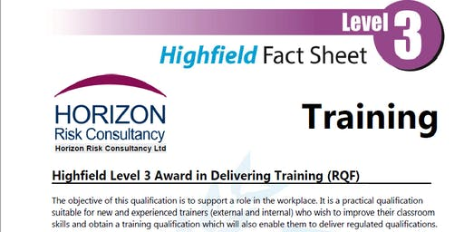 Highfield Level 3 Award in Delivering Training (RQF)