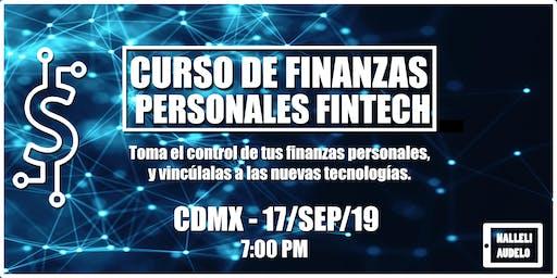 Curso Finanzas Personales Fintech CDMX 17 sep 7PM