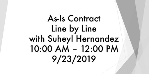 As-Is Contract Line by Linewith Suheyl Hernandez10:00 AM – 12:00 PM