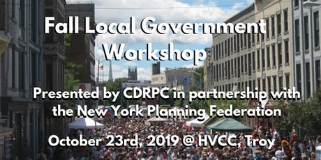October 23 CDRPC and NYPF Fall Local Government  Workshop tickets