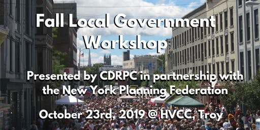 October 23 CDRPC and NYPF Fall Local Government  Workshop
