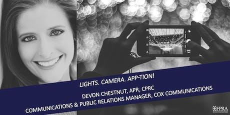 September Luncheon: Lights. Camera. App-tion! tickets