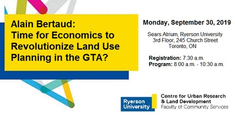 Time for Economics to Revolutionize Land Use Planning in the GTA? tickets