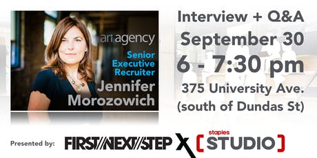 First Next Step X Staples Studio Speaker Sessions feat Jennifer Morozowich tickets