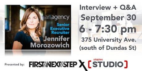 First Next Step X Staples Studio Speaker Sessions feat Jennifer Morozowich tickets