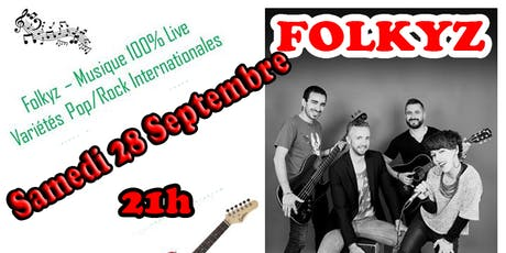 Soirée Pop Rock avec FOLKYZ tickets