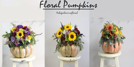 October Workshop: Floral Pumpkins