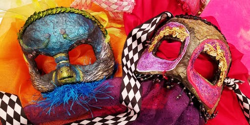 Mardi Gras Mask Workshop (Two-Parts) with Wendy Bantam