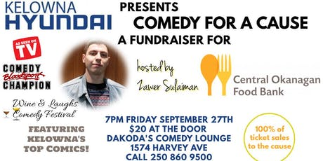 Kelowna Hyundai presents Comedy for a Cause for Central Okanagan Food Bank tickets