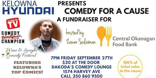 Kelowna Hyundai presents Comedy for a Cause for Central Okanagan Food Bank