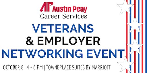 """""""Veterans & Employer Networking Event"""" hosted by APSU Office of Career Services"""