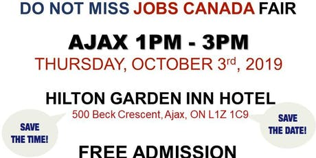 AJAX JOB FAIR - October 3rd, 2019 tickets