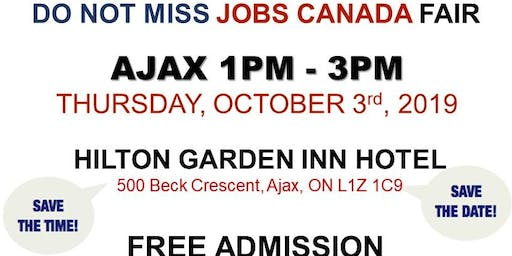 AJAX JOB FAIR - October 3rd, 2019