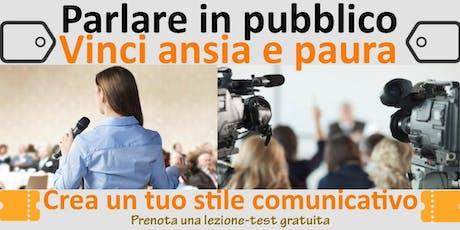 Parlare in pubblico - (Lezione-test individuale gratuita) biglietti