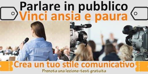 Parlare in pubblico - (Lezione-test individuale gratuita)