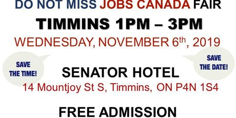 Timmins Job Fair - November 6th, 2019 tickets