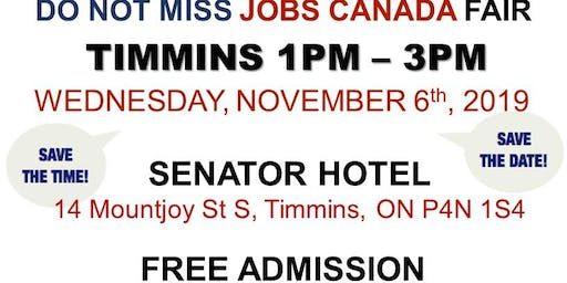 Timmins Job Fair - November 6th, 2019